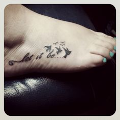 Let it be | by Sparrows Tattoo Company, Mansfield, TX.