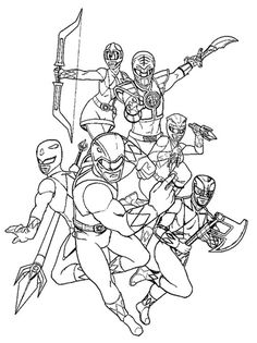 pirate power rangers coloring pages   The Dino Charge Rangers! Download them all: http://www ...