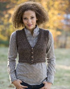 Ravelry: Tryst Cropped Vest pattern by Kristen TenDyke Knit Vest Pattern, Sweater Knitting Patterns, Free Knitting, Knitting Ideas, Classic Elite Yarns, Shrugs And Boleros, Crochet Wool, Yarn Inspiration, Country Fashion
