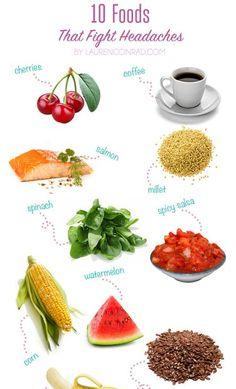 Lebensmittel die Kopfschmerzen vermindern sollen