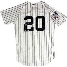 73e58ffb60b Jorge Posada Signed New York Yankees Authentic Pinstripe Jersey w  2000  Patch (