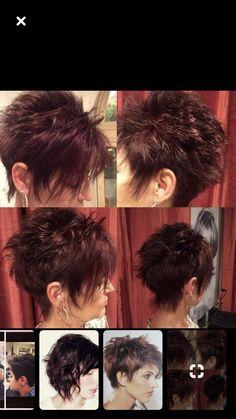 Lieben Sie die Farbe und schneiden Sie - All For Bob Hair Trending Funky Short Hair, Short Hair With Layers, Short Hair Cuts For Women, Short Layered Haircuts, Cute Hairstyles For Short Hair, Curly Hair Styles, Haircut For Thick Hair, Haircut And Color, Corte Y Color