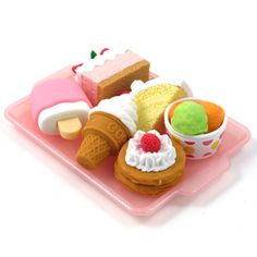 Iwako Eraser Set: Dessert. http://www.artbox.co.uk/
