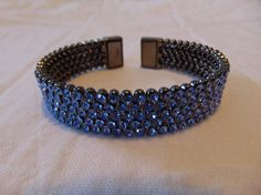 vintage FRAGMENTS mfg. co. light blue swarovski  pave crystals