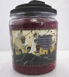 APPLE BOURBON Goose Creek Candle 64 oz Centerpiece Jar FOLK ART LABEL