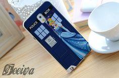 Disney Princess Cinderella Tardis Police Box Phone Case For iPhone Samsung iPod