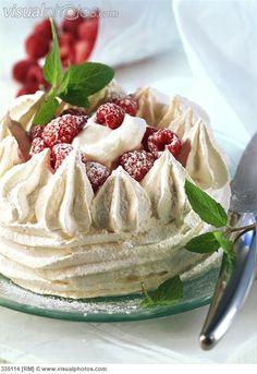 Raspberry pavlova (styling - no recipe)