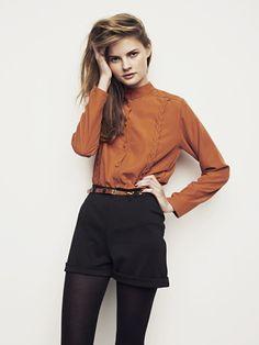 dress shorts + tights