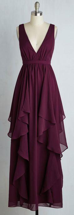 layered chiffon gown