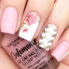 French Nail Designs, Nail Art Designs, Fancy Nails, Cute Nails, Wow Nails, Pretty Hands, Artificial Nails, Manicure And Pedicure, Natural Nails