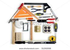 House Made Of Tools Over White Background Stockfotonummer: 51392008 : Shutterstock