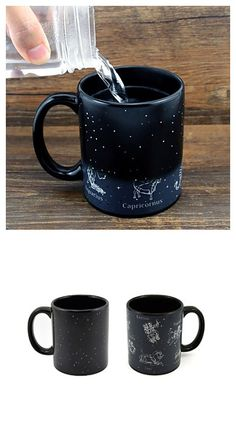 What's your sign? This cool color changing mug will give you something interesting to look at in the morning! Great as a gift!