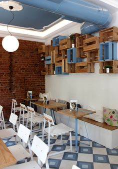 at 38 str Pavlou Mela, Thessaloniki - the new obsession: pure Greek frozen yogurt with delicious toppings! Thessaloniki, Frozen Yogurt, Spoon, Greece, Pure Products, Interior, Table, Furniture, Home Decor