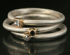 love the mix of white and yellow gold