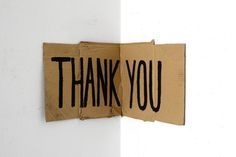 Untitled (THANK YOU), 2015, cardboard, charcoal, variable dimensions