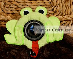 Camera Creatures Frog with Squeaker by CameraCreatures on Etsy, $19.00