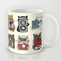 Cats Love Cameras Mug by Andrea Lauren - $15.00