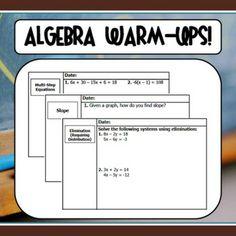 Mathematics Problems and Warm-ups