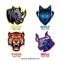 Emblemas animais para equipes de esporte