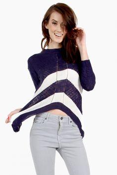 Sasha Stripe Sweater - Pulse Designer Fashion