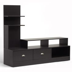 @Overstock - Armstrong Dark Brown Modern TV Stand - With your electronics being a variety of different sizes, the Armstrong Designer TV Stand steps up to the plate to deliver a bevy of differently-sized shelves to hold your eclectic collection.  http://www.overstock.com/Home-Garden/Armstrong-Dark-Brown-Modern-TV-Stand/8661961/product.html?CID=214117 $152.99