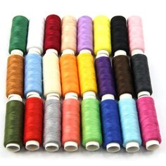 Estone New 24 Spools Mixed Colors Polyester All Purpose Sewing Threads Cones Set Hot -- Find out more about the great product at the image link.