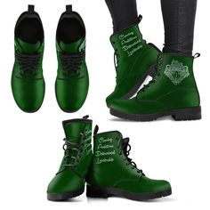 Harry Potter 4 Houses Women's Boots HP0005 - Slytherin / US8 (EU39)
