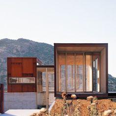 steel staircase modern glass exterior concrete architecture Japanese Trash masculine design ymmv tastethis inspiration