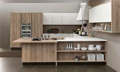 Kitchen island with bookshelf shelves open full size of cabinet diy wit . Kitchen Room Design, Outdoor Kitchen Design, Modern Kitchen Design, Modern Interior Design, Diy Kitchen, Modern Kitchen Cabinets, Kitchen Furniture, Kitchen Island, White Wood Kitchens