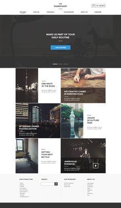 layout / Shanghaiinist / webdesign