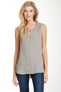 Bellatrix Sheer Studded Tank (also in white)