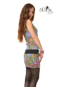 Elf, Html, Peplum Dress, Dresses, Design, Fashion, Colorful Flowers, Dress Skirt, Black