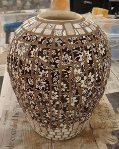Brown Pique Assiette Vase | by Dawn Mendelson