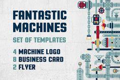 Fantastic Machine Templates  -  https://www.designcuts.com/product/fantastic-machine-templates/