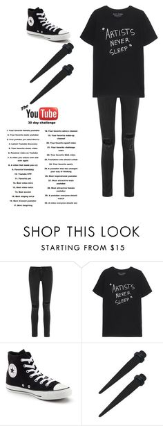 """Day 25, AmandasChronicles..."" by emo-kyleigh ❤ liked on Polyvore featuring rag & bone and Converse"