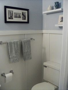 Trendy Bathroom Makeover For Renters Apartment Therapy Yellow Bathrooms, White Bathroom, Small Bathroom, Beach Bathrooms, Renters Solutions, Bathroom Colors, Bathroom Ideas, Bath Ideas, Bathroom Makeovers