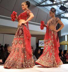 Bridal Wedding Lengha Lehnga Suits, Embellished Bridal Gown India ...