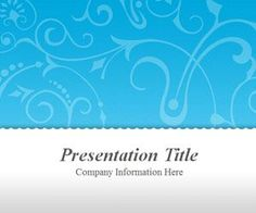 You can free download this vintage PowerPoint template with floral blue background for your PowerPoint presentations