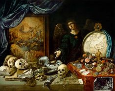 Naturaleza muerta Vanitas by Antonio de Pereda (ca. Baroque Painting, Baroque Art, Memento Mori Art, Vanitas Vanitatum, Exotic Art, Danse Macabre, Spanish Painters, Sculpture, Botanical Illustration
