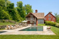 I love the warm look with the modern, clean lines. And the pool. Most definitely the pool.