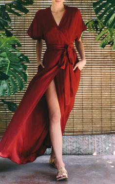Jasper Solid Wrap Dress by Rhode Resort   Moda Operandi