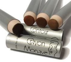 Monave's new Vegan Contour Crayons are here! Made with nourishing botanicals and pure minerals, these chubby crayons glide smoothly onto the cheeks, forehead, and face, allowing you to contour like a Pro. They are available in four different neutral to warm shades that suit a multitude of light to dark skin tones. You can use these crayons to achieve a subtle, natural contour to the face, or go bold with dramatic contouring for photo shoots, stage performances, film shoots, etc.