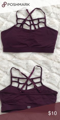07fbc62bc6 Sports Bra Super Cute Deep Plum Sports Bra! Forever 21 Intimates   Sleepwear  Bras