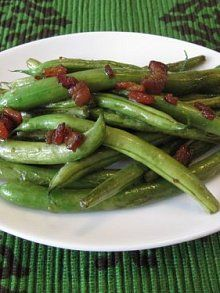 Green Bean  Bacon Saute. These were delicious! We used soy sauce instead and had to cook it about 20 minutes. Tasty!