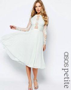 e9c5f0c88e28 ASOS PETITE – WEDDING – Hübsches Skaterkleid mit Fransen und Falten Skater  Kleid, Fransen,
