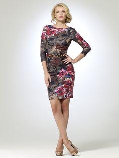 CACHE CONTOUR | Contour Paisley Floral Dress | Caché