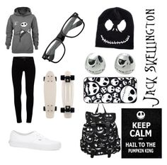 """""""THE NIGHTMARE BEFORE CHRISTMAS"""" by candygirl156 ❤ liked on Polyvore featuring J Brand and Vans"""