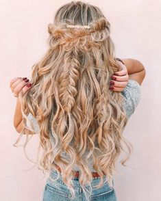 Using Luxy Hair extensions in Dirty Blonde Simple Wedding Hairstyles, Short Wedding Hair, Summer Hairstyles, Cool Hairstyles, Braided Wedding Hair, Braided Hairstyles For Long Hair, Classic Hairstyles, Fashion Hairstyles, Guy Tang