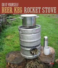 A rocket stove is a very useful piece of survival gear. And if you can make a rocket stove yourself out of stuff you have lying around (in this case a beer keg) a save a few bucks in the process, even better.  These instructions will help you use a simple beer keg as