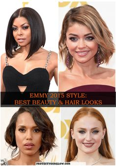 Taraji P. Henson, Sarah Hyland, Kerry Washington, Sophie Turner and MANY MORE// Take a peek at some of the Emmy's best beauty looks on www.protectyourglow.com!